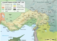 Map of the Armenian Kingdom of Cilicia, 1199 – 1375 (and the Euphrates' Region)