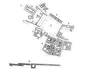 Hellenistic Olbia, plan of the center of the Upper City