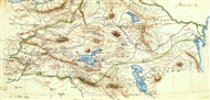 'Armenia' geopolitical – historical map made by Heinrich Kiepert in 1880