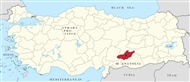 Adıyaman Prefecture (in SE Anatolia): its location in the map of Turkey